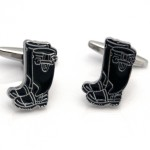 Green welly cufflinks